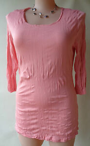 EVERSUN-new-pink-crinkle-top-plus-size-20-NWT-3-4-sleeves