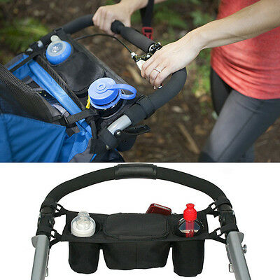 Baby STROLLER PARENT Console Organizer Double Cup Holder Buggy Jogger x1pc