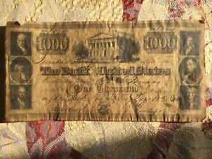 1840 1000 Bank Note Of The
