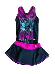 2-Pc-Girl-Gerry-Swimsuit-Black-Pink-Size-12
