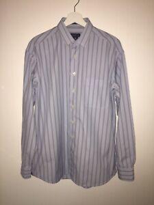 GANT-Blue-Stripe-Dress-Cotton-Shirt-Collar-Size-16-Chest-46-Worn-Once