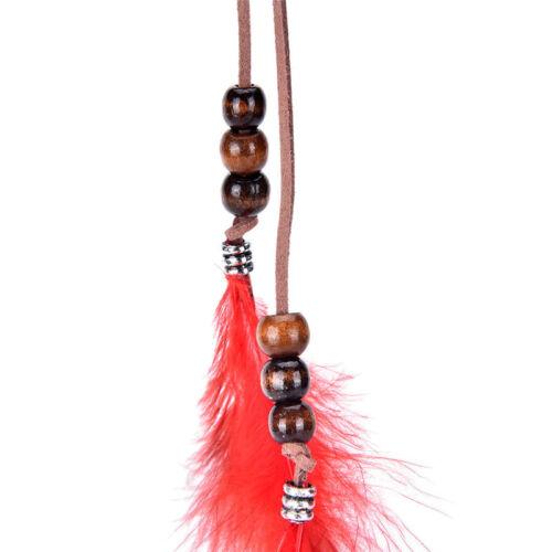 Neue Kopfschmuck Indische Feder Haarschmuck Clip Federn Quaste Haarteil 0U