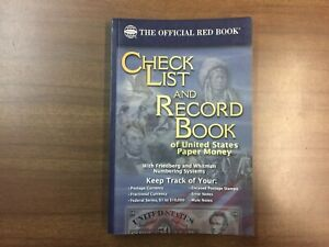 NEW!!! Check List /& Record Book Of United States Paper Money