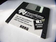 KORG SED-03  NS5 N1  Sound Editor  KORG MIDI SMF etc Floppy Disc  PC