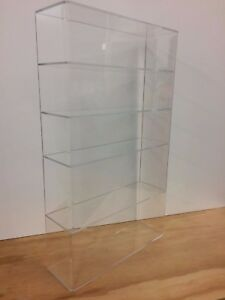Acrylic-Lucite-Countertop-Display-Case-ShowCase-Box-Cabinet-14-034-x-4-1-4-034-x-24-034-h