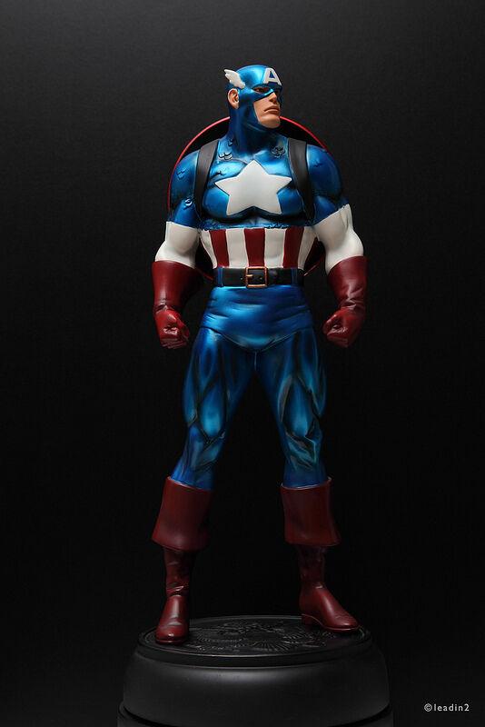 Bowen captain america mettalic  statue limited  offre spéciale