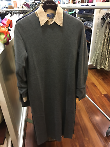 New-Polo-Ralph-Lauren-Womens-Cashmere-Sweater-Dress-Grey-Black-S-M-L-XL