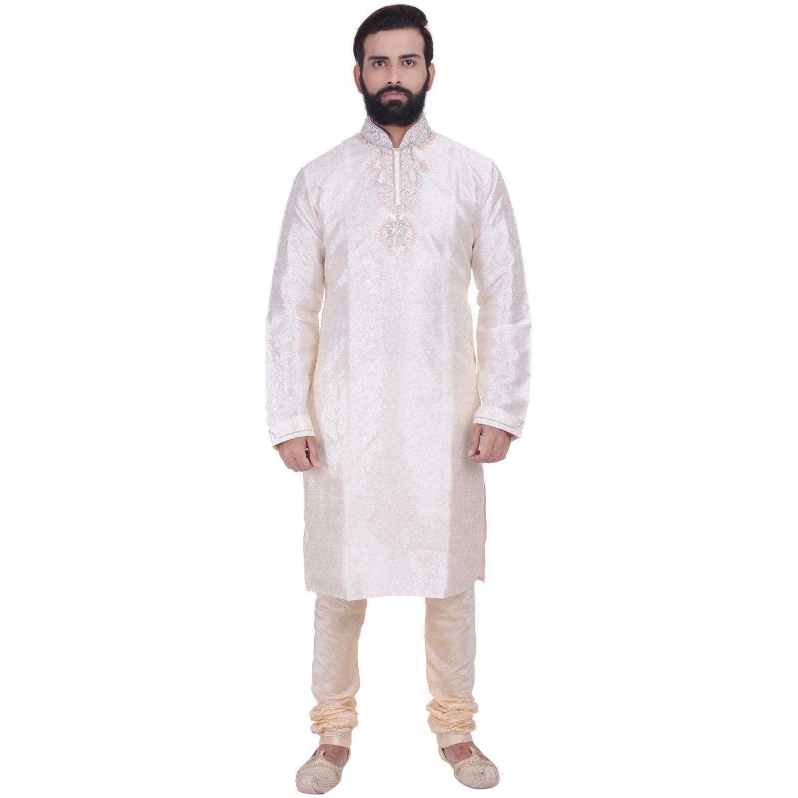 Indian Bollywood Kurta Sherwani for Men 2pc Suit (Worldwide Postage)