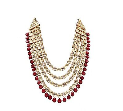 Amiable Indian Kundan Line With Beads Necklace Long For Girls Bollywood Trend Jewels Jewelry & Watches Jewelry Sets