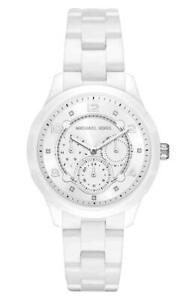8d2675bea025c Michael Kors MK6617 Runway White Ceramic Day Date Women s Dress ...