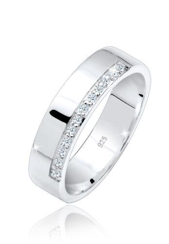 Verlobungsring Klassisch 925 Silber natürliche Diamanten Elli PREMIUM Neu