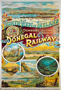 TR72-Vintage-Ireland-Donegal-Railway-Irish-Travel-Poster-Re-Print-A4