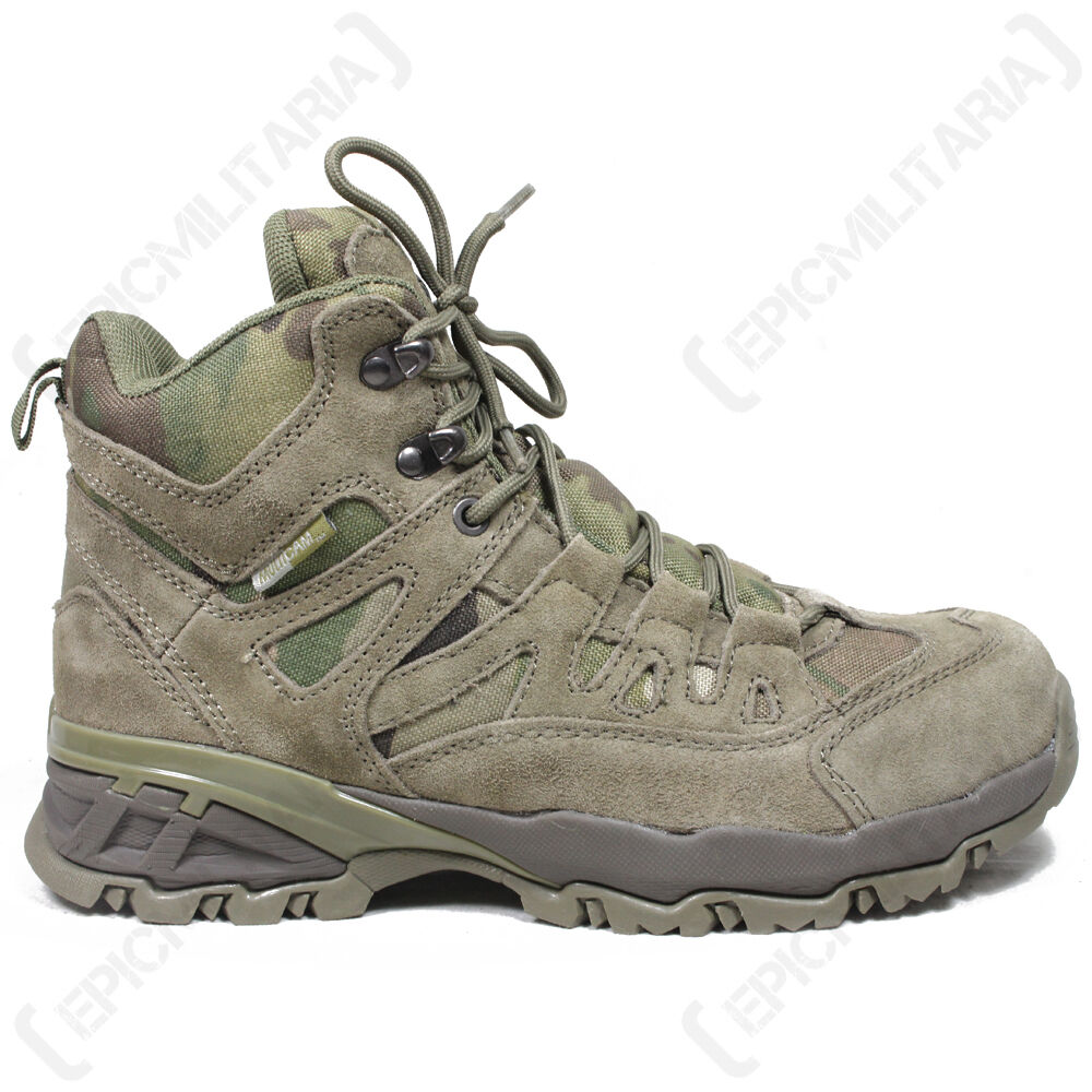 MULTICAM Military SQUAD Boots - All Sizes Army Combat Mid Height Hiking Shoe New