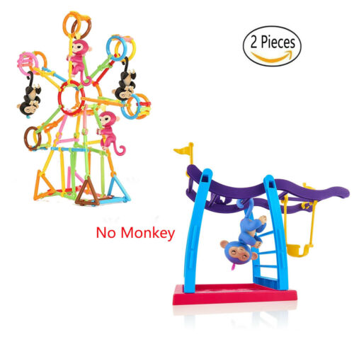 1X Swing Set+130pc Smart Stick Building Blocks for Fingerlings Monkey Toys Xmas