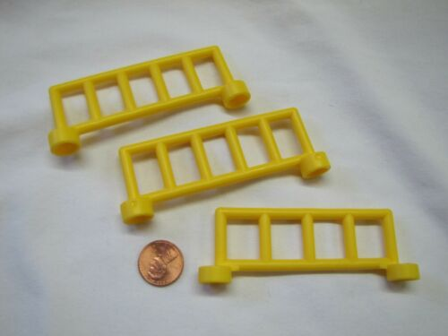 Lego Duplo Lot of 3 YELLOW FENCE RAIL SECTIONS FENCING Zoo Construction House