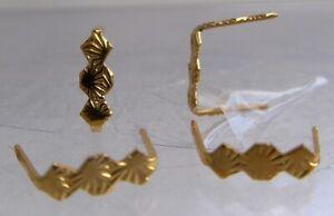 500 Connectors 9 mm goldfarben Prismen-Clips Verbindungsclips, Lüsterbehang, #19