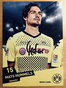 Mats Hummels AK Borussia Dortmund Autogrammkarte 2011-12 original signiert