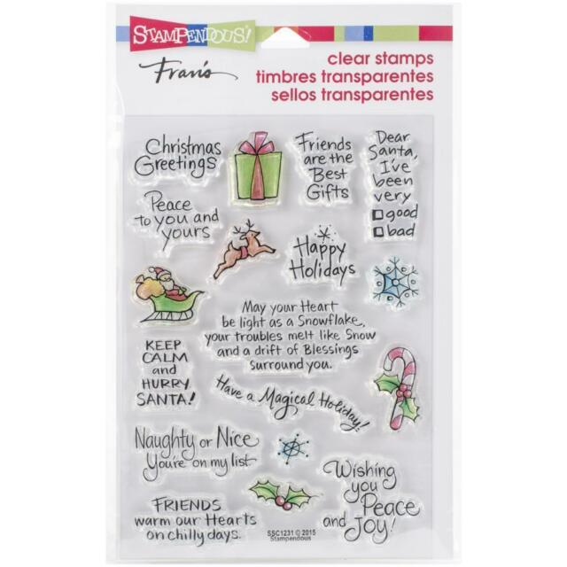 Christmas Expressions.Stampendous Perfectly Clear Stamps Christmas Expressions Ssc1231