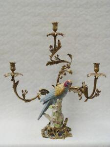 9937818-dss-Ottone-Ceramica-3-flammiger-Candeliere-Portacandele-Pappagallo-H62cm