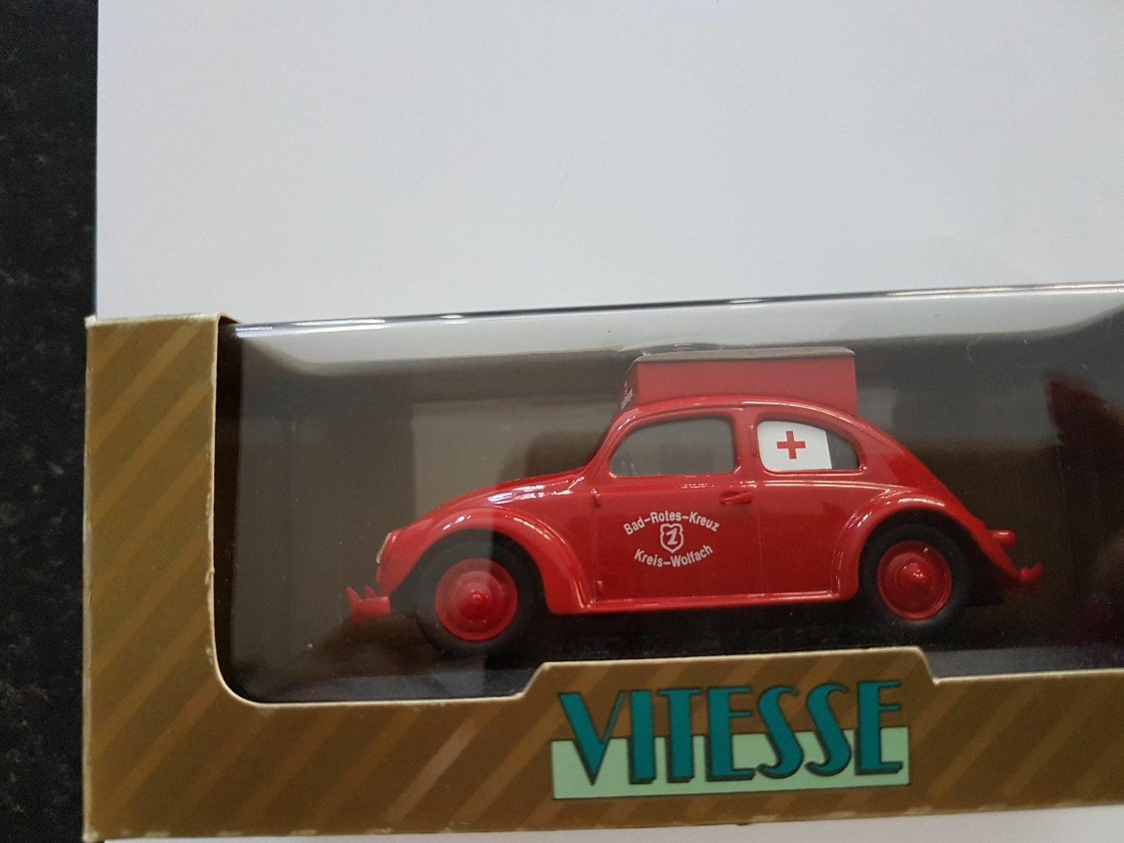 RARE VITESSE VW Beetle Ambulance de la Croix-Rouge 1 43 Ltd Edt Comme neuf IN BOX LTD EDT