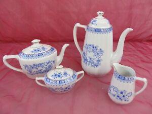 China-Blau-Dorothea-Seltmann-Weiden-Bavaria-Kanne-Zuckerdose-Milchkaennchen
