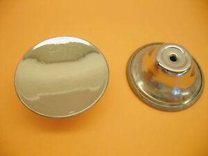Image is loading Vtg-Round-CHROME-Cabinet-KNOBS-Drawer-Pulls-Handles-
