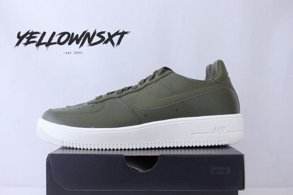 Nike air force 1 medio ultraforce cuoio sz 14 medio 1 olive bianco lthr 845052 201 b6fc7d