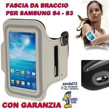FASCIA DA BRACCIO BIANCO PER SAMSUNG GALAXY S4 S3 PORTACELLULARE CORSA FITNESS ,