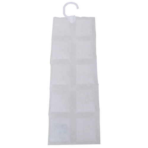 10 Grids Dehumidifier Bags Moisture Absorber Home Hanging Wardrobe Drying Agent#
