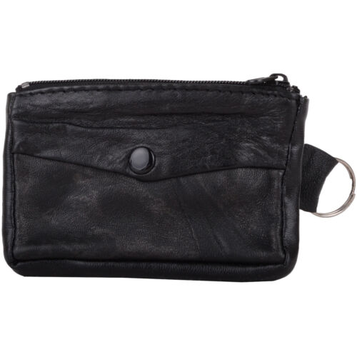 Holder Mens Soft Leather Coin Money Purse Pouch Ladies Womens
