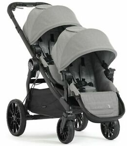 Baby-Jogger-City-Select-Lux-Twin-Tandem-Double-Stroller-w-Second-Seat-Slate-NEW