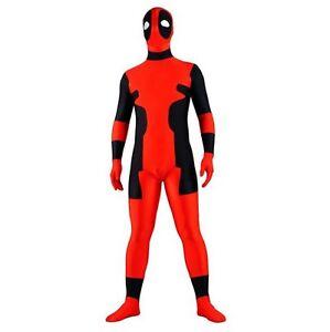 Deadpool Costume Lycra Spandex Zipper Full Body Zentaisuit ...