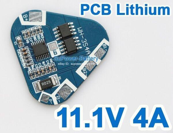 3S Li-ion Lithium Battery Protection Circuit Board 3 Cell PCB 10.8V 11.1V 12V 4A