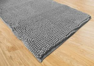 Tappeto bagno moderno spaghetti grigio cm 65x130 ebay