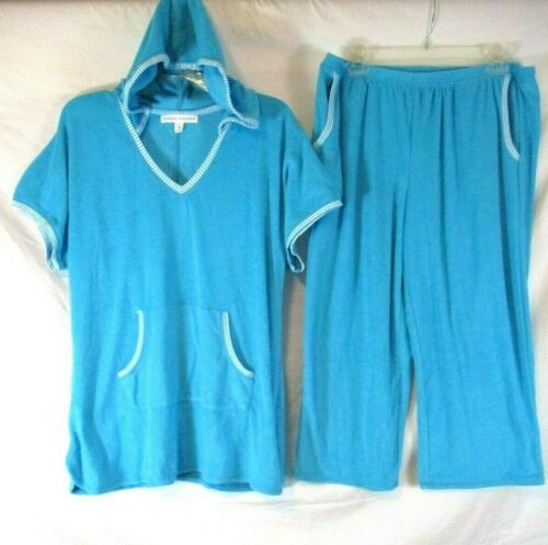 Carole Hochman Terry Cloth Loungewear Set 2 Piece