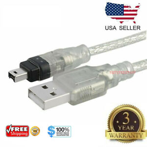 6FT-1-8M-USB-To-Firewire-IEEE-1394-4-Pin-iLink-Adapter-Data-Cable-Cord-PC-Mac-US
