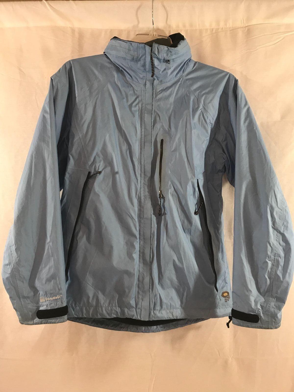 VGUC Mountain Hardwear Conduit women's jacket sz 10 Tall Light Blue
