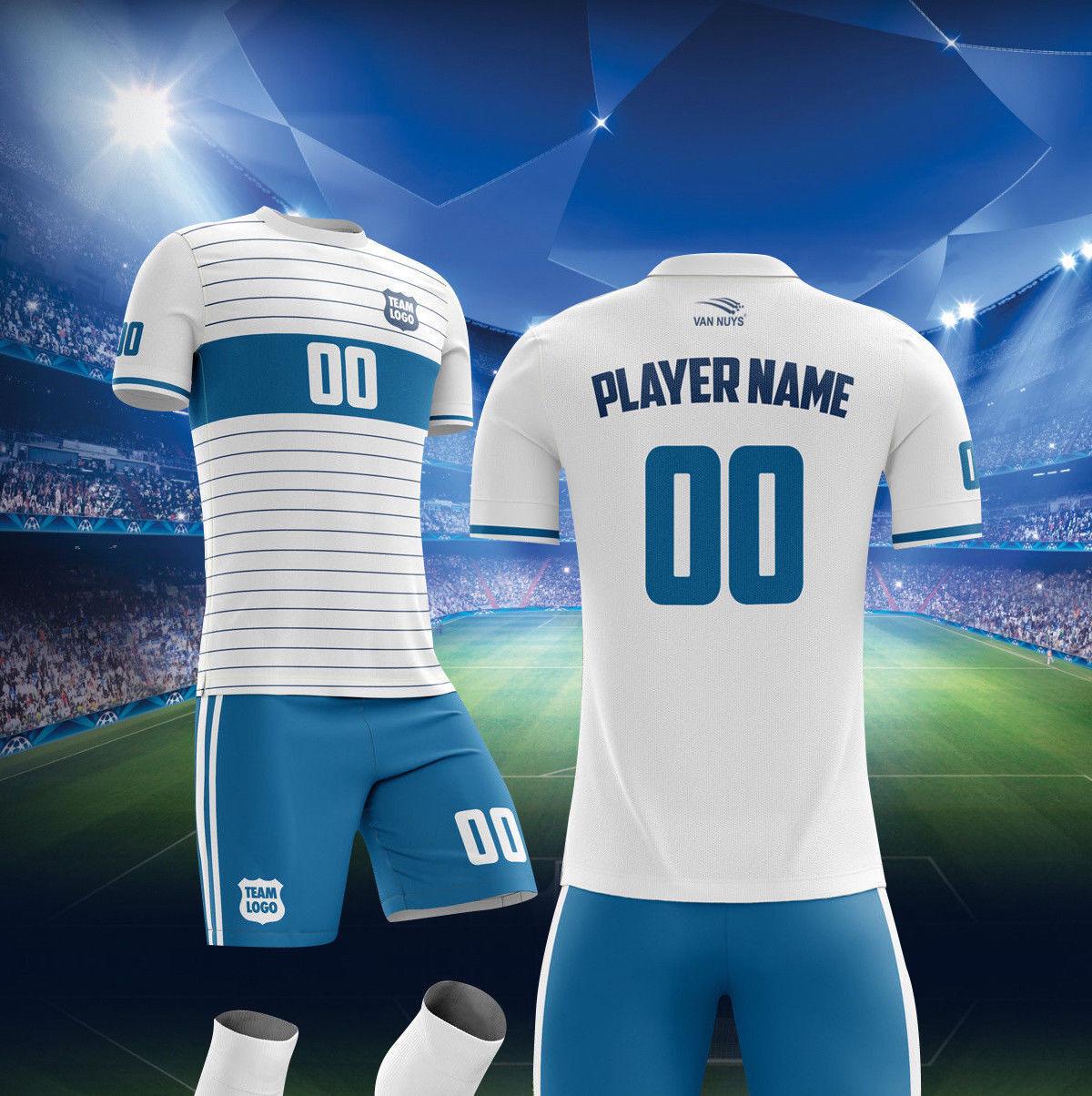 12 kits de fútbol uniforme  SET incluye Camiseta Y Cortos Calcetines Todas Las Tallas