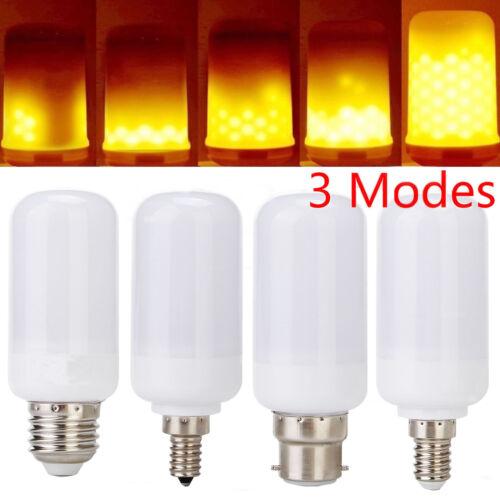 E27 E14 LED Burning Flicker Flame Effect Fire Light Bulb E12 B22 Decorative Lamp