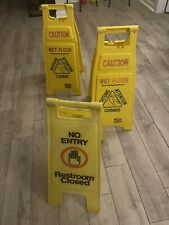 Continental Caution Wet Floor Sign 26 H X 11 W Amp Rubbermaid Restroom Closed