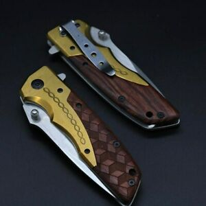 High-Quality-Browning-Folding-Knife-Copper-Head-Handle-Outdoor-Camping-Hunting