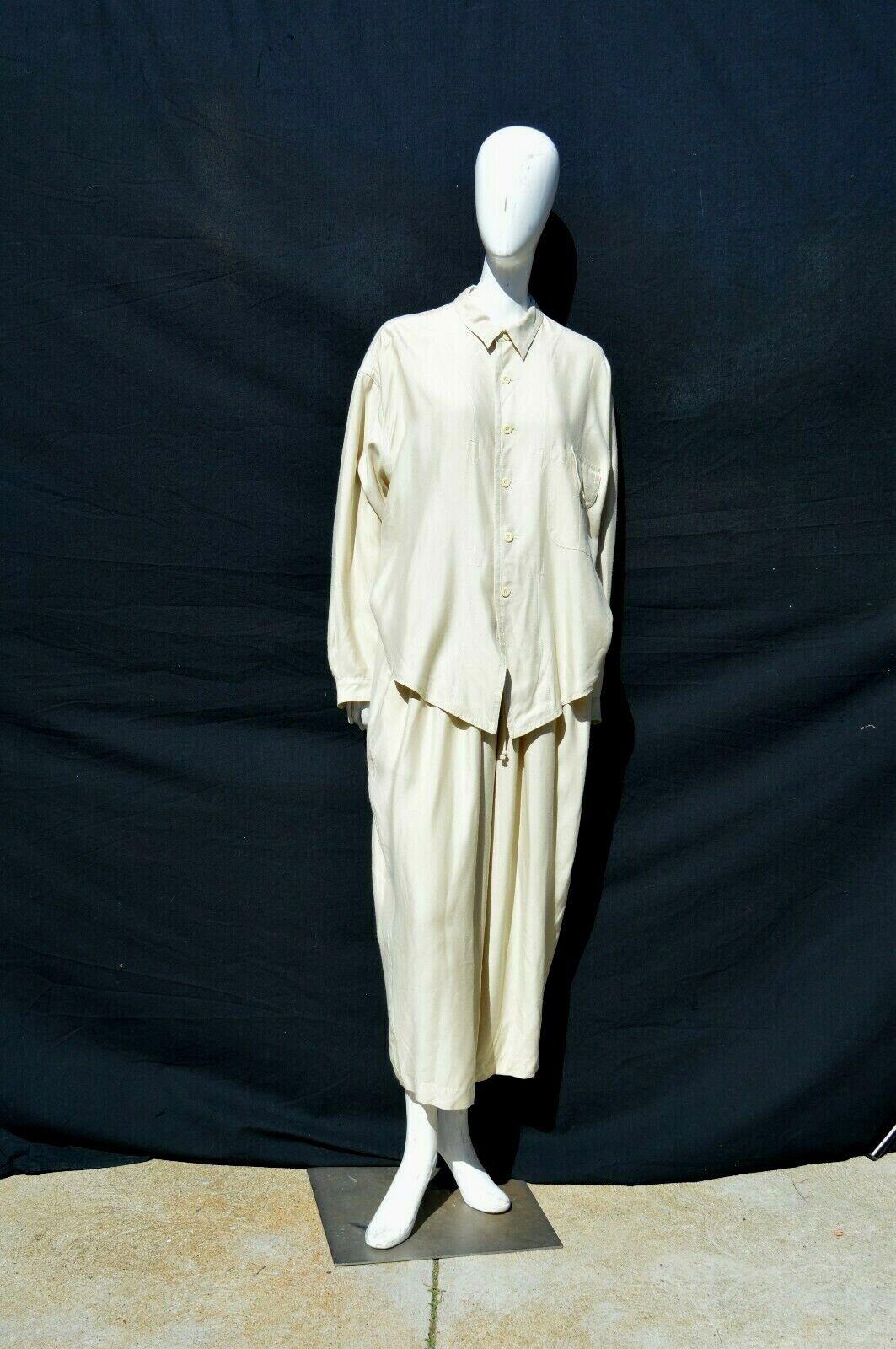 Vintage 80's one piece MATSUDA suit JUMPSUIT PANTSUIT WIDE LEGGED pleated size L