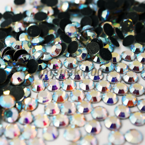 HOTFIX CRYSTAL GLASS RHINESTONE GEMS DIAMANTE DECORATION SHOES DRESS DANCE CLOTH