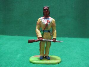 Vintage -  INDIANO Winnetou Nativo americano wild west   70 mm. -  Elastolin