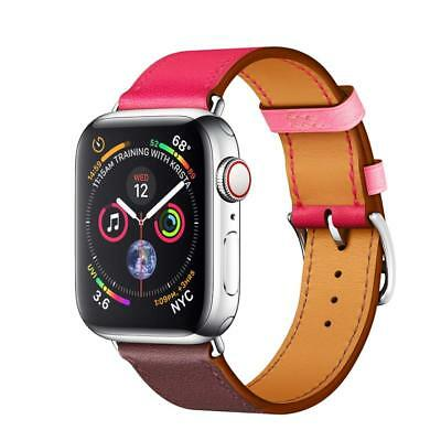 Genuine Leather TWO-TONE Watch Band Strap for iWatch Apple Watch Series 4/3/2/1