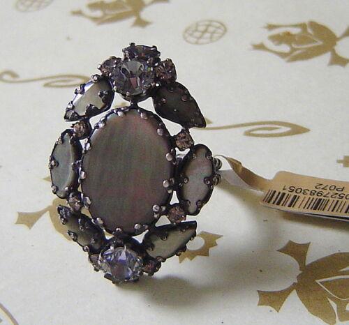 Konplott anillo Dangerous liaisons madreperla antracita multi//Antique Silver