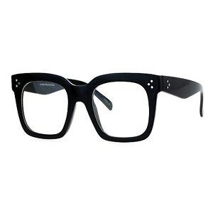 Super-Oversized-Clear-Lens-Glasses-Thick-Square-Frame-Fashion-Eyeglasses