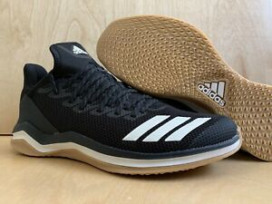 Details about ADIDAS BOUNCE BLACK WHITE GUM ICON 4 TRAINER SHOES US MEN 9.5 CASUAL WORKING NEW