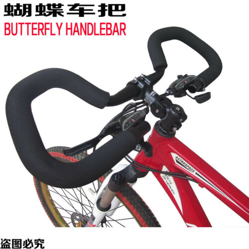 Mountain Bike Butterfly Handlebars Curve Handle Bars Long Distance Cycling Rest