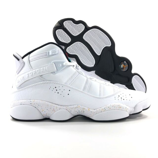 low cost 5f0df 9dcd7 Nike Air Jordan 6 Rings Confetti Paint Splatter 322992-100 Mens Size 12
